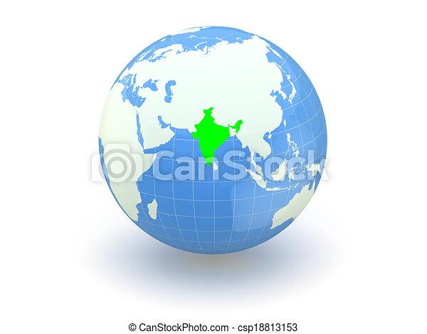 Globe. 3d. India. - csp18813153