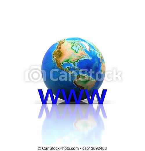 Globe - 3D - csp13892488