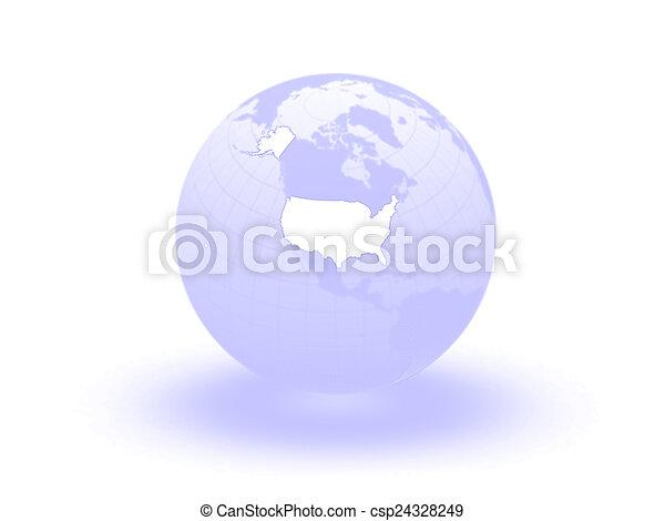 Globe. 3d. USA. - csp24328249