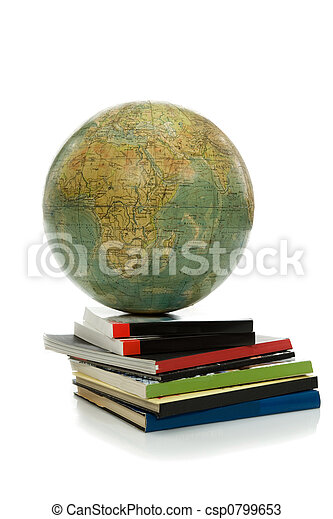 Globe and books- knowledges - csp0799653