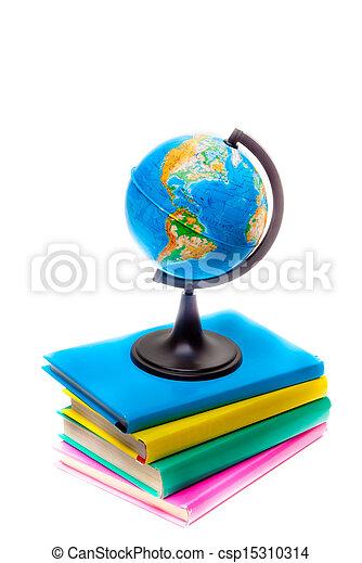 globe and books - csp15310314