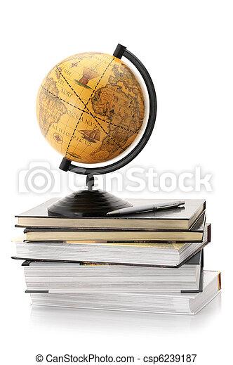Globe and books - csp6239187