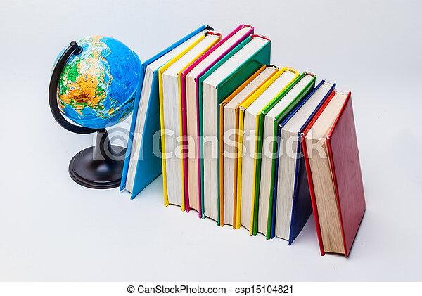 globe and books - csp15104821