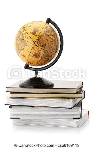 Globe and books - csp6189113
