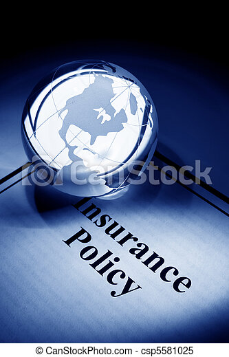 Globe and Insurance Policy - csp5581025