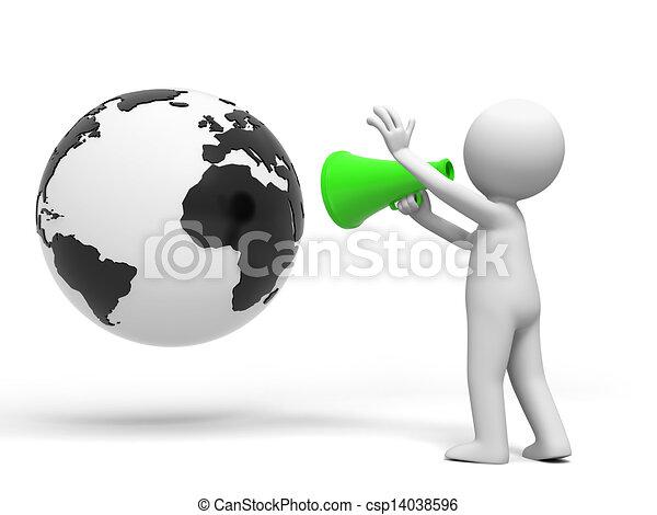 Globe and Speaker - csp14038596