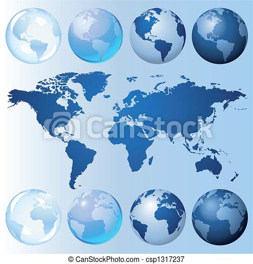 globe bleu, kit - csp1317237