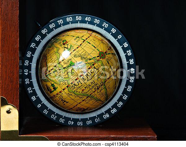 Globe Book End - csp4113404