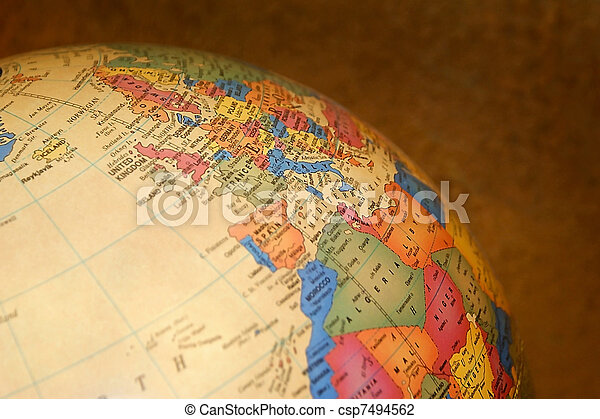 Globe Close Up - csp7494562