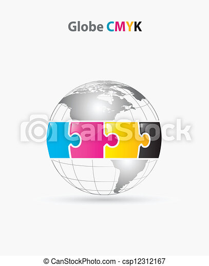 globe cmyk - csp12312167