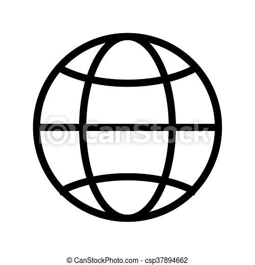 Globe Diagram , Vector Illustration