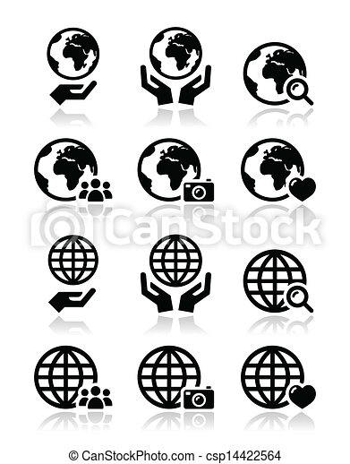 Globe earth with hands vector icons world globe with clip art globe earth with hands vector icons publicscrutiny Choice Image