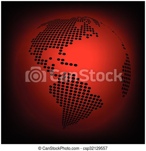 Globe earth world map abstract dotted vector background red globe earth world map abstract dotted vector background red wallpaper illustration gumiabroncs Gallery