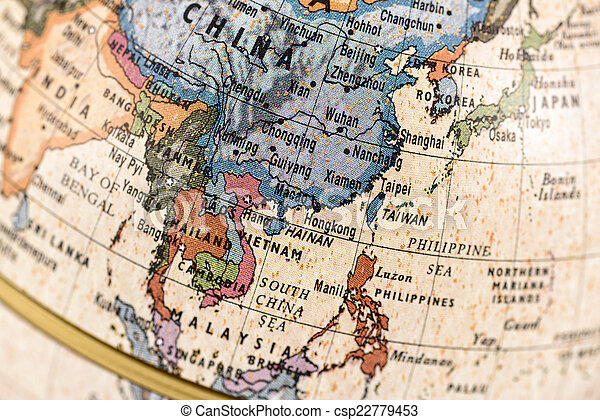 globe east and southeast asia csp22779453