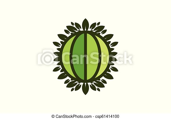 Globe Green World And Leaf Save Earth Logo Designs Inspiration