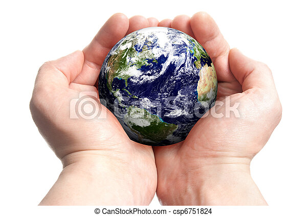 globe, handen - csp6751824