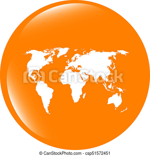Globe icon earth world map on web button globe icon earth world map on web button csp51572451 gumiabroncs Gallery