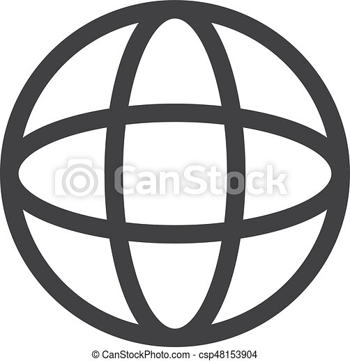 globe icon in black on a white background vector vector clipart rh canstockphoto com globe icon vector illustrator globe icon vector white