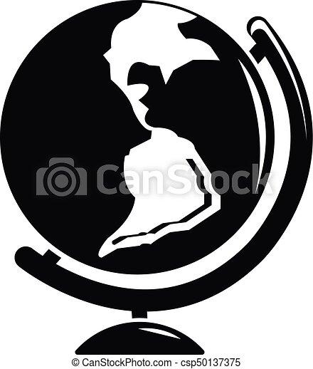 Globe Icon, Simple Black Style   Csp50137375