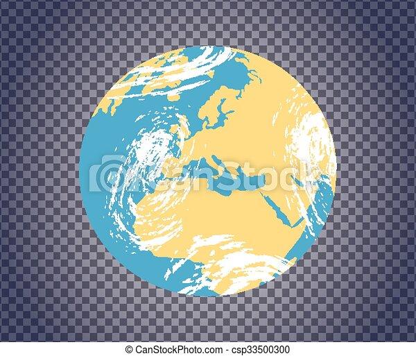 Globe icon with map globe icon with map of the continents of the globe icon with map csp33500300 gumiabroncs Gallery