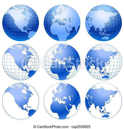 Globe icons. - csp2556925