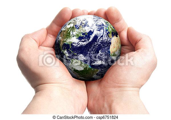 Globe in hands - csp6751824