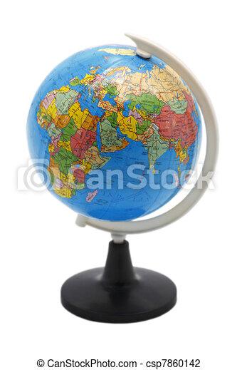 Globe isolated on white background - csp7860142