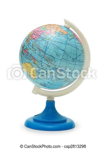 Globe isolated on white background - csp2813298