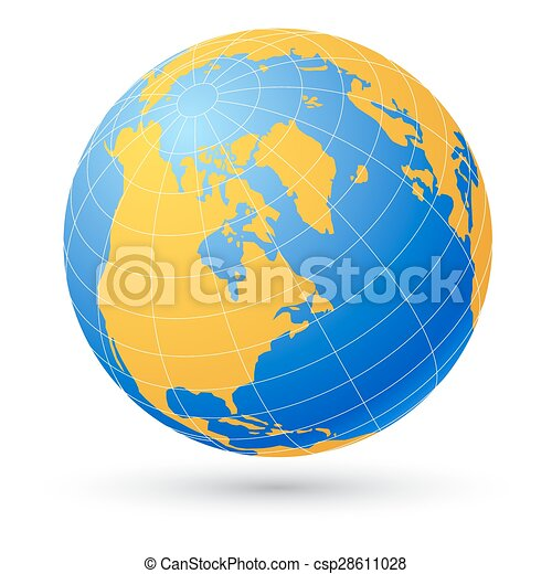 Globe isolated on white. - csp28611028