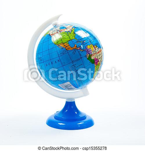 Globe isolated on white - csp15355278