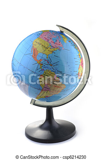 globe isolated on white - csp6214230