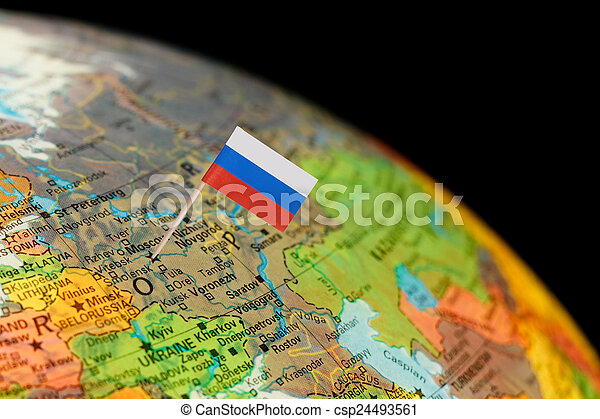 Globe map detail russia with russian flag map with stock image globe map detail russia with russian flag csp24493561 gumiabroncs Choice Image