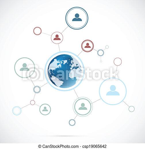 globe, netwerk, achtergrond - csp19065642