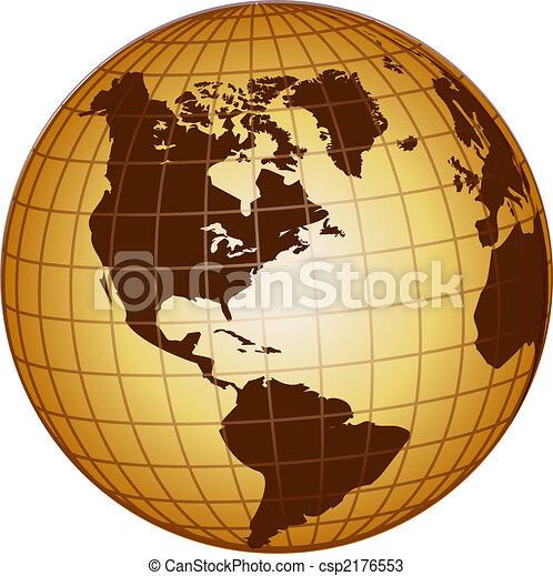 globe north and south america - csp2176553