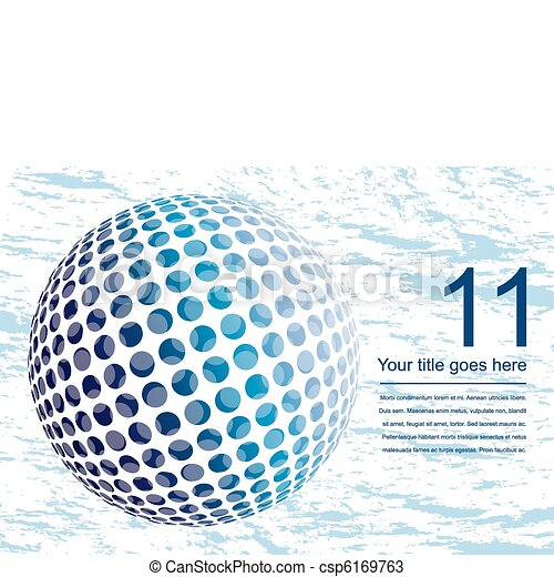 globe, numérique, coloré, design. - csp6169763