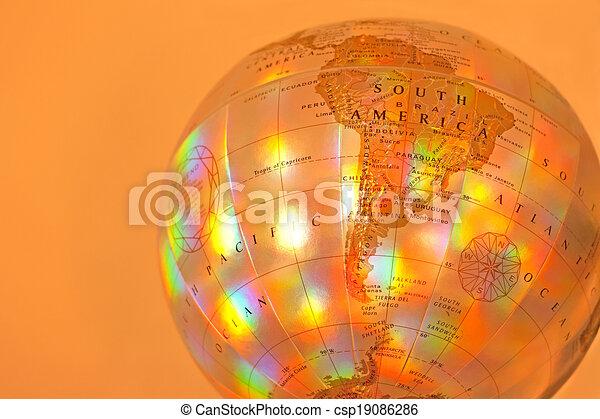 Globe of South America - csp19086286