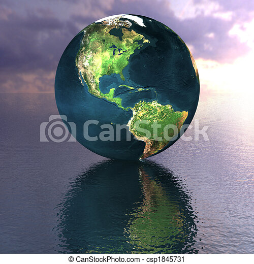 globe on the water - csp1845731