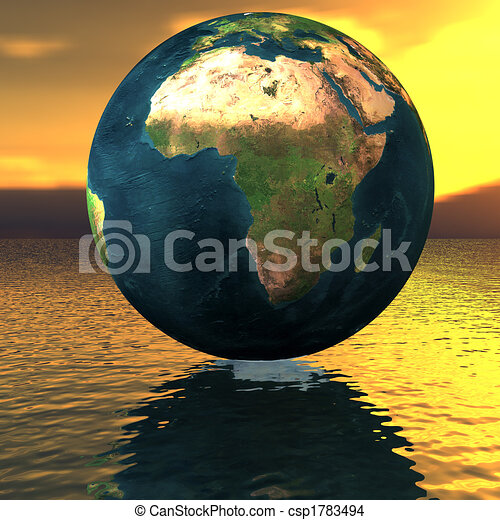 globe on the water - csp1783494