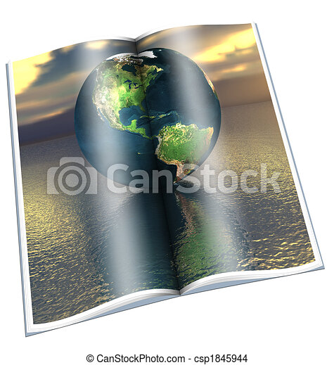 globe on the water - csp1845944