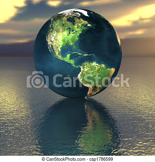 globe on the water - csp1786599