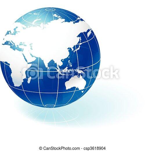 Globe on white background - csp3618904
