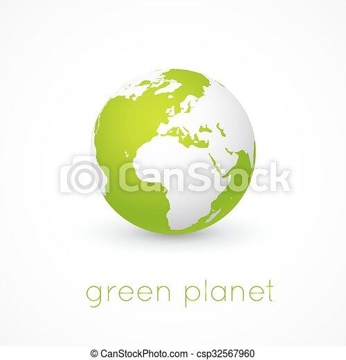 Globe on white background. Vector. - csp32567960