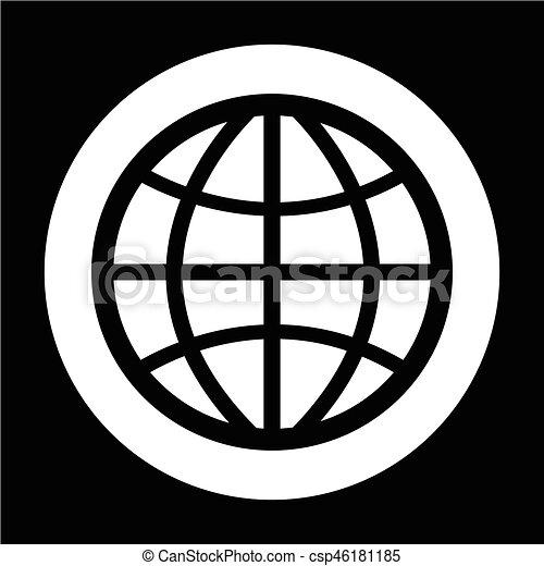 globe, pictogram - csp46181185