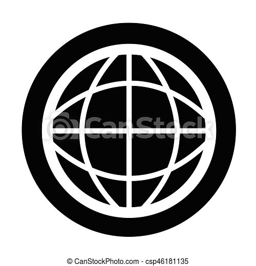 globe, pictogram - csp46181135