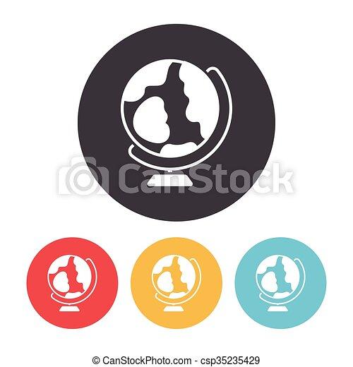 globe, pictogram - csp35235429
