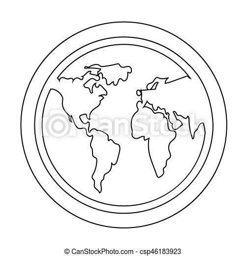globe, pictogram - csp46183923