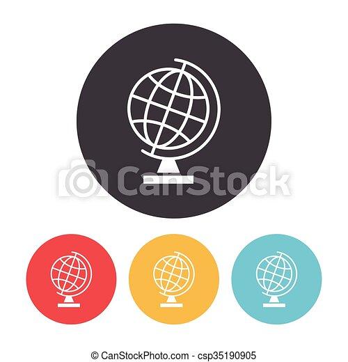 globe, pictogram - csp35190905