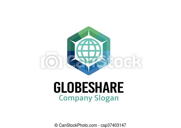 Globe Share Design - csp37403147