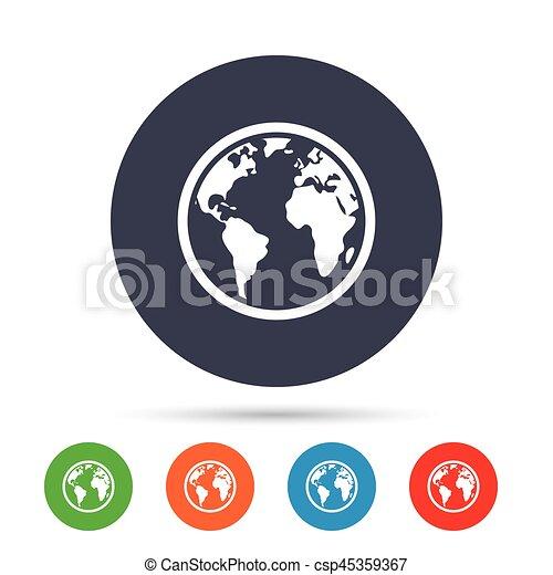 Globe sign icon world map geography symbol round colourful clip vector globe sign icon world map geography symbol csp45359367 gumiabroncs Images
