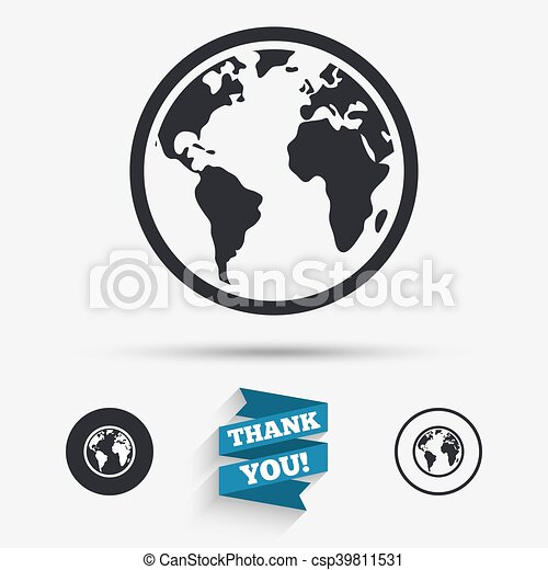 Globe sign icon world map geography symbol flat icons vectors globe sign icon world map geography symbol csp39811531 gumiabroncs Image collections